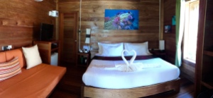 Beachfront room $129/nt