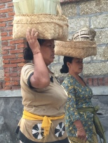 Balinese women going somewhere.