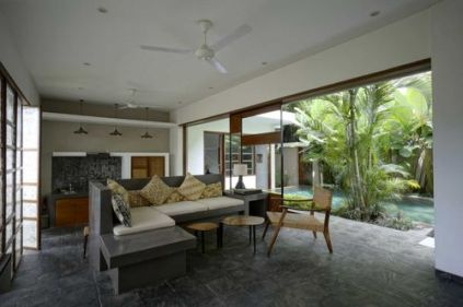 Private kitchen & living room - Tegal Sari Resort