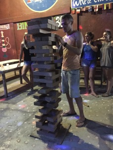 Huge Jenga game