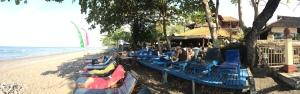 Beach area at Café Amed