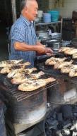 Lert Ross grilling fish