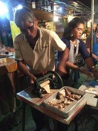 Squid vendor in Pai