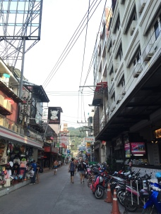 Crowded alley of Patong once cleared by the tsunami in 2004