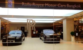 Rolls Royce Dealership in a Bangkok Mall