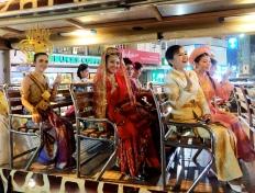 Thai beauties in traffic