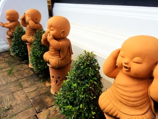 Baby monk statues - Chiang Mai