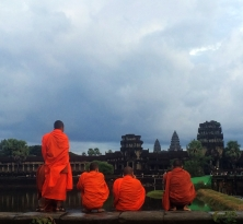 Monks at Angkor Wat