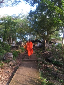 Monks at the Killing Cave