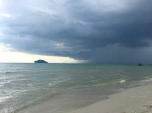 Storm cloud over Otres Beach