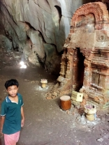 Jake at the shrine in cave of Sasear