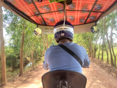 Tuk Tuk driver taking us to Kep