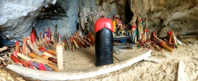 The Phallus Shrine in Phra Nang Cave, Krabi