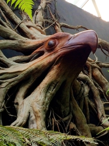 Wood carving in Cloud Forest