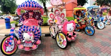 Rickshaws in Malacca