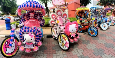 Rickshaws in Malacca