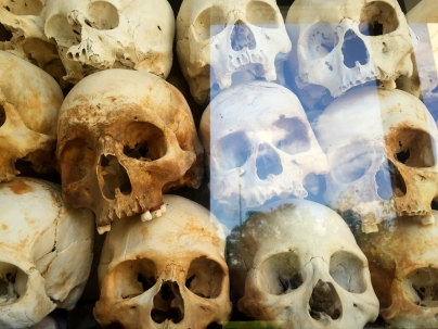 Skulls of victims at Killing Fields