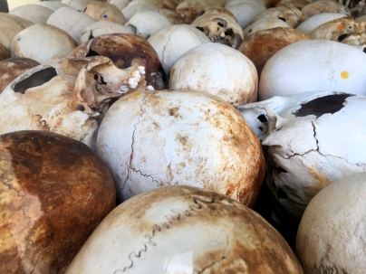 Skulls of victims at Killing Fields
