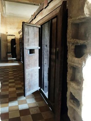 Prison cells in S-21 Prison