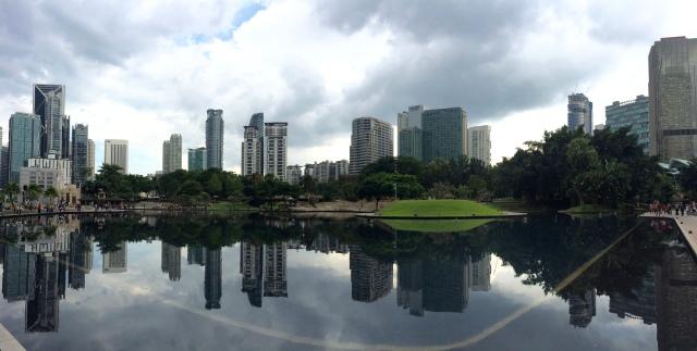Behind Petronas Towers