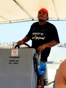 Boat driver at Penang National Park