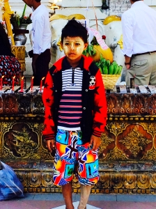 Child wearing thanaka
