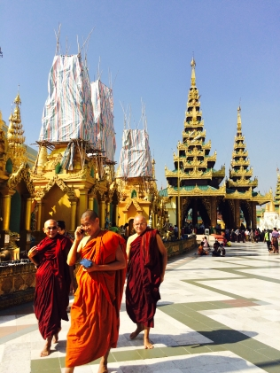 Monks in Yangon Burma