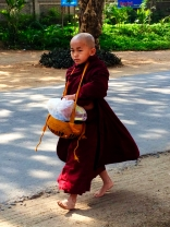 Young Burmese monk in Bagan