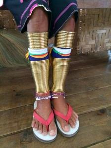 Kayan Lahwi tribal woman's legs