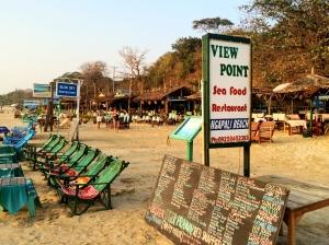 Restaurant row on the beach