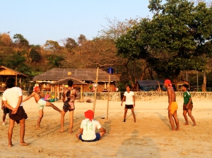 A local game of Chinlone