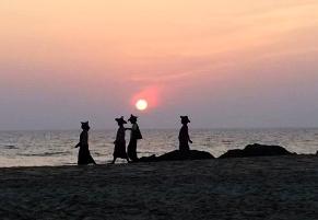 Sunset on Ngapali Beach