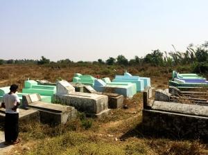 Cemetery - Bamboo Village, Dala Burma