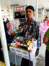 Selling betel nut on the ferry