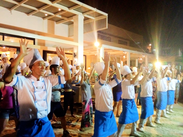 Dancing chefs at Regency Boracay buffet