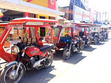 Tricycles in Boracay