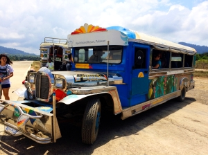 El Nido airport jeepney