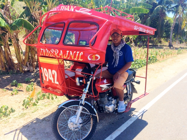 Hired tricycle and driver