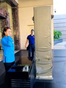 Metal detector at Radisson Blu Hotel