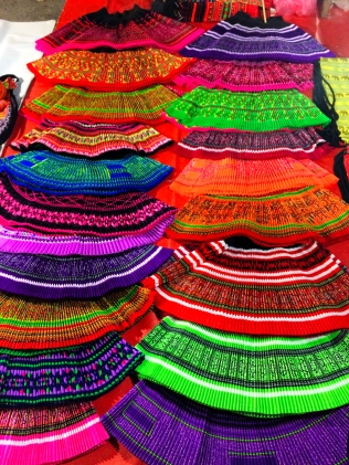 Traditional Laos skirts at the Night market - Luang Prabang