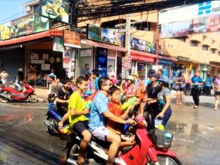 Motorbikes during Songkran