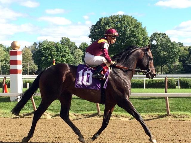 Irad Ortiz riding the 10 horse.
