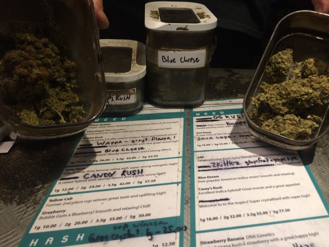 Marijuana & Marijuana menu