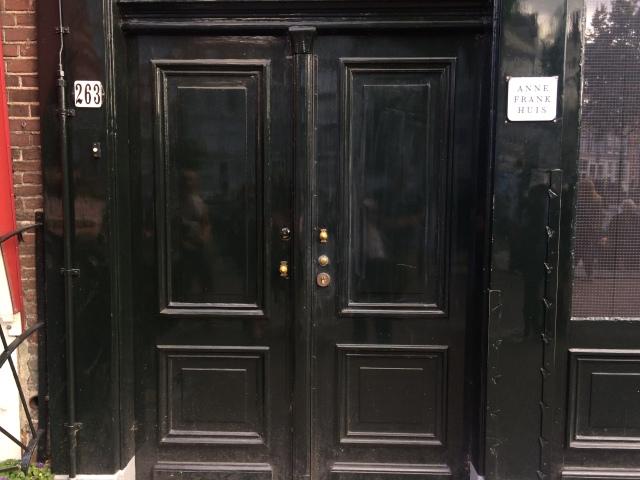Anne Frank's front door