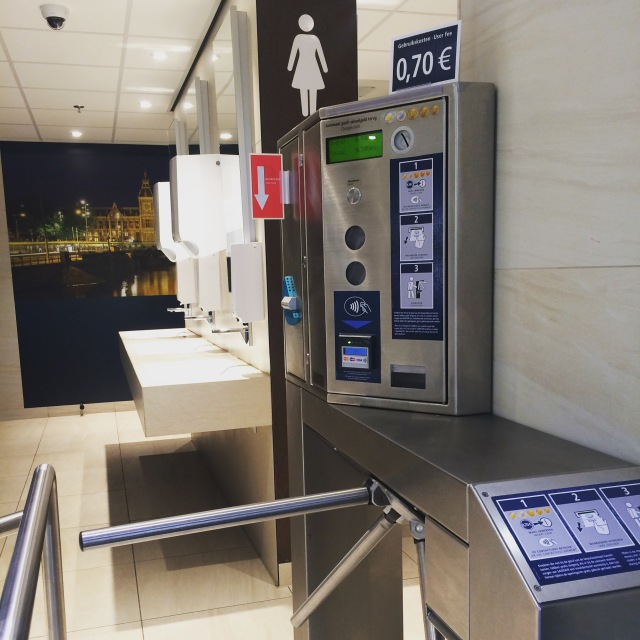 Bathroom that accepts credit cards