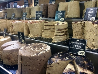 Assorted flavors of halva