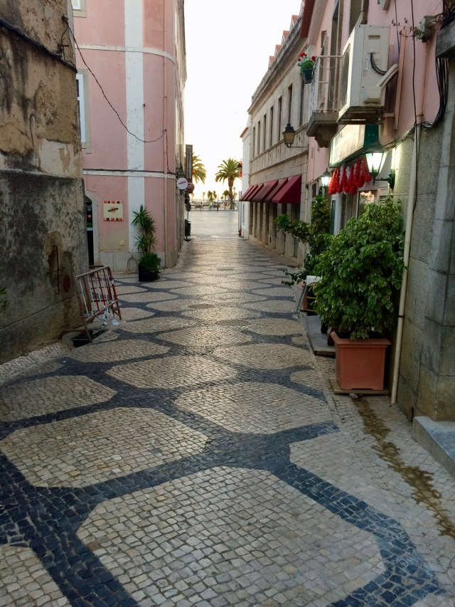 Paved streets in Cascais