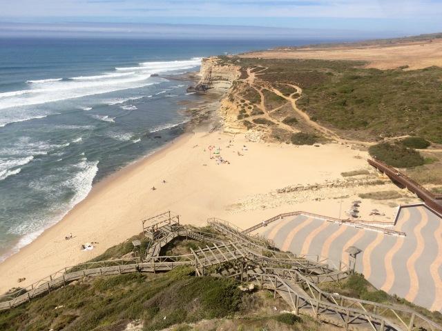 Surfing beach in Ericiera