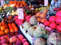 Fresh fruit at Carmel Market