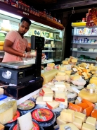Cheese store at Carmel Market